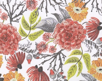 Mumseed Meadows Floral Cotton Fabric Dear Stella Designs  By the Yard