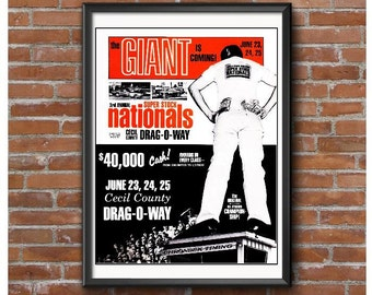 1967 Super Stock Nationals Event Poster – Cecil County Dragway Maryland NHRA