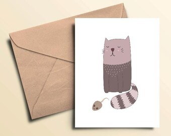 Cat & Mouse Note Cards – Box of 10 With Envelopes