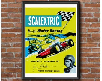 Scalextric Slot Cars Poster – Vintage Slot Car Racing 1960's