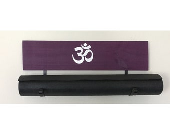 Yoga Mat Holder, Yoga Gift, Yoga Accessory, Yoga Decor, Om, Namaste
