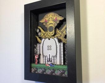 Contra Shadowbox Pocket Sized Nintendo Art for the NES