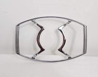 Vintage Corning Ware casserole Stand - Chrome Metal Corning ware Trivets - Hot Plate Stand - P-11-M Corning Ware warming stand
