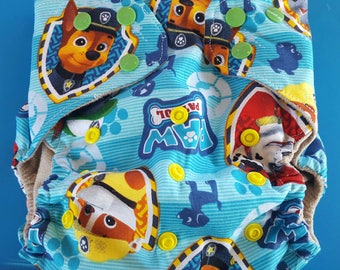 Medium paw patrol pocket cloth diaper