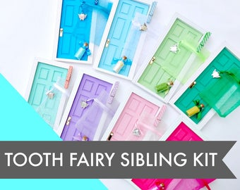 Tooth Fairy Door Kit Combo, choose 2 doors, Siblings Fairy Door, Two Fairy Doors, Fairy Door Duo, Tooth Fairy Sisters, Fairy Brothers