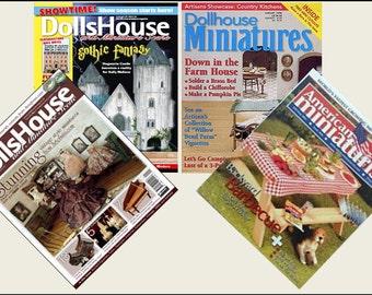 4 Miniature   'DOLLHOUSE MINIATURES'   Magazines  -  Dollhouse 1/6     1/12    1/24    1/48   play scale miniature