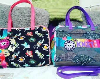 Custom Made Makers Tote Large size/ Design Makers Tote/ Project Bag/ Knitting Bag/ Crochet Bag/ Handbag/ Purse/