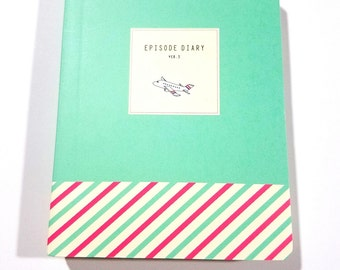 Soft Cover Episode Diary-Cute Mini Notebook Journa in Mintl-150 Pages