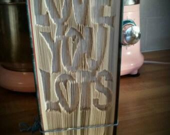 Love you lots cut and fold book folding pattern