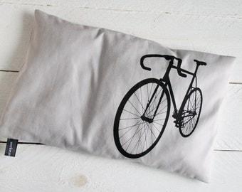 Cherry pit pillow bike, black on light gray