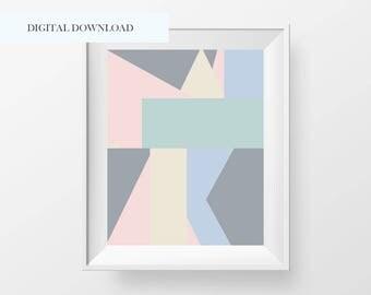 Pastel Modern Abstract Art Printable - Digital Abstract Art - Modern Abstract Wall Art - Abstract Wall Print - Home Decor - Nursery Decor