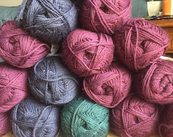 CLEARANCE Galway Highland Heathers yarn worsted weight