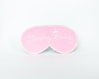 Sleeping Beauty Sleep Mask Princess Sleep Mask Felt Mask Princess Eye Mask Sleeping Princess Mask Eyemask Embroidery Handmade mslieppingb