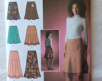 Simplicity 4091 UNCUT New Misses Size 6, 8, 10, 12, 14 Skirts Pattern