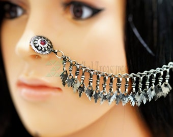 Gypsy nose stud,Kuchi nose pin,Tribal nose jewelry,,Afghan jewelry,Piercing body jewelry,Afghan nose ring,Nose jewelry,Ethnic nose stud