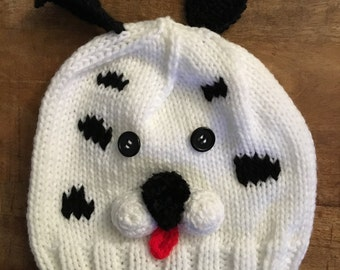 Hand knit Puppy Hat