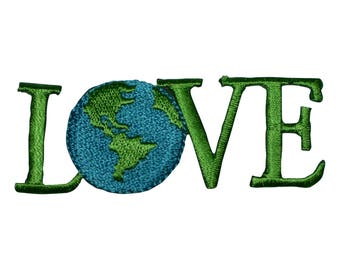 Love the Earth Applique Patch (Iron on)