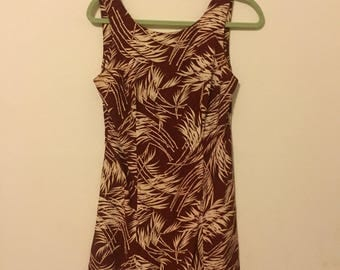 Hawaiian Print Mini Sundress