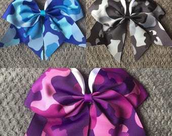 Large Camouflage Hair Bows