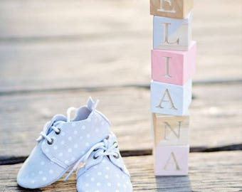 Engraved Wooden Blocks - Personalized || Handpainted Blocks, Baby Blocks, Baby Toys, Nursery Decor, Photo Prop