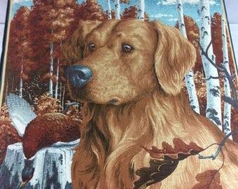 Vintage Labrador Decorative Fabric Storage Box Dog Storage Box Dog Fabric Labrador Fabric