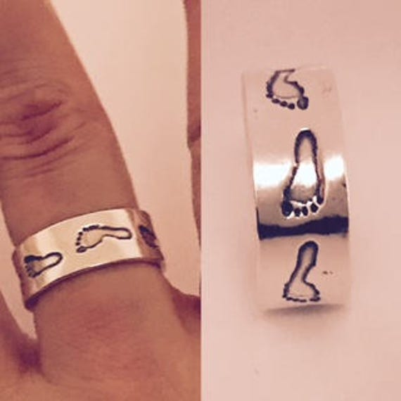 Fingerprint Jewellery  -  Actual Footprints Captured in a Solid Silver Band