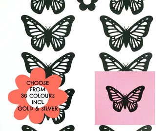 10 3 Inch Removable Butterfly Vinyl Wall Decals, Butterfly Wall Art, Nursery Room Decoration, Girls Bedroom Decor, Butterfly Laptop Sticker