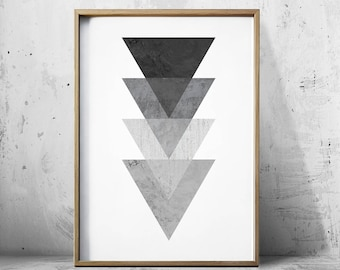 Posters Wall Art Prints Geometric Art - Geometric Prints - Black And White Print - Op Art - Geometric wall art - Geometric Poster -