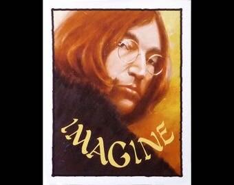 John Lennon, Giclee print, Imagine, John Lennon print, John Lennon painting, Original art