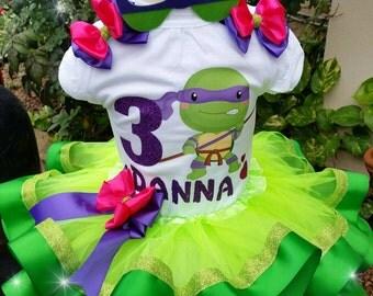 Ninja Turtles Tutu Set, Ninja Turtles shirt, ninja Turtles tutus. Ninja Turtles