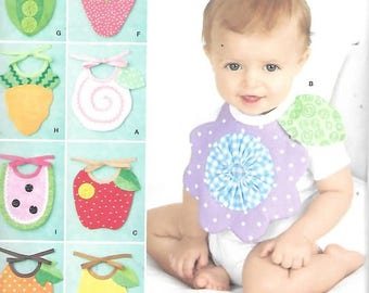 Nine Great Baby Bibs, One Size,  New Simplicity Pattern 2273