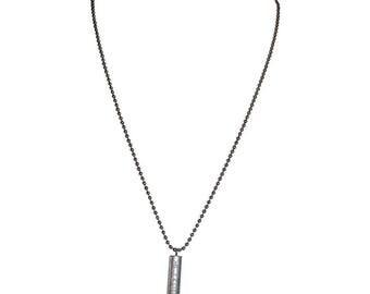 Mens Tiffany and Company Atlas Bar Bead Ball Necklace