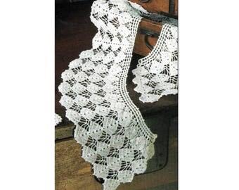 Crochet Pattern For Collar - PDF Instant Pattern Download - Easy Crocheted Flower Petal Collar Pattern