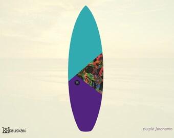 Jeronemo Purple | Surfboard Sock | Tropics