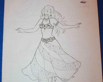 AF12 Suzanna's Swirl Skirt Sewing Pattern for Belly Dance Costume, by Atira's Fashions, Cabaret Skirt, Sewing Instructions
