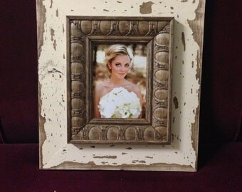 Large 5x7 picture frame.  Distressed.