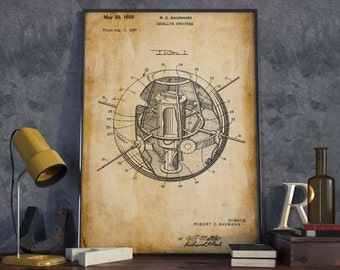 Satellite Patent Print  Astronaut Gift  Space Poster  Spaceman Gift  Home Decor  Room Wall Poster  HPH223