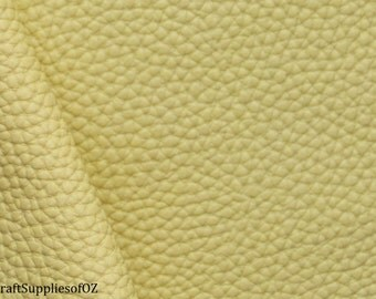 Light Yellow Faux Leather Yellow  Leatherette Yellow Synethetic Leather Soft Leatherette Supply in Australia