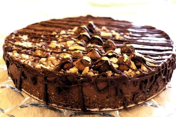 Chocolate Hazelnut Manna Torte - Decadent, Raw, Organic, Vegan, GLUTENFREE, Soy-free, Low-Glycemic Sweetened LOCAL PICKUP
