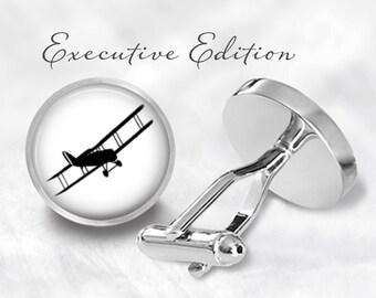 Biplane Cufflinks - Aeroplane Cufflinks - Plane Cuff Links - Airplane Cufflinks (Pair) Lifetime Guarantee (S0140)