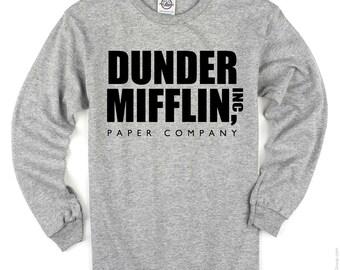 Dunder Mifflin The Office Funny Long Sleeve Tee