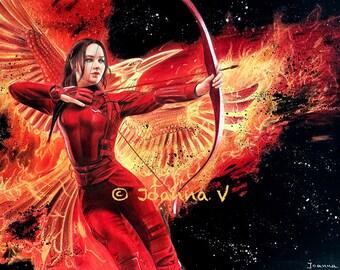 Jennifer Lawrence/Katniss Everdeen Original Fine Art Colored Pencil Drawing