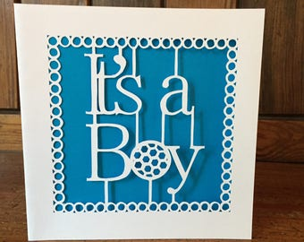 It's a boy papercut card