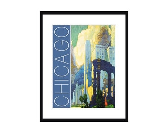 Chicago Vintage Travel Poster – Print - Poster