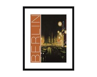 Berlin Vintage Travel Poster – Print - Poster