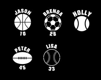 Sports Team Decal Etsy - Window decals for sports