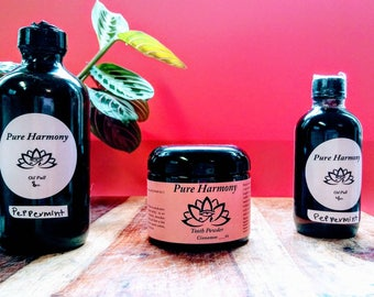 Ayurveda oil pull system toothpaste and oil pull duo hippie fluoride free chemical free mouthwash sustainable