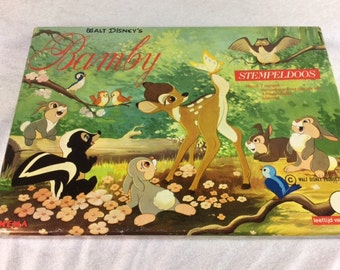 Walt Disney's Bambi Stamp Box Set - Vintage 1990