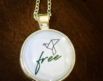 Free Origami Bird Necklace