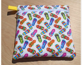 QSnap or Hoop Project Bag (Only) - Flip Flop Fun